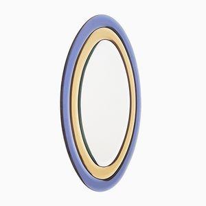 Gelb & Blauer Ovaler Spiegel, 1970er