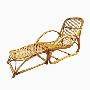 Invincible Cane Lounge Chair and Footstool by Angraves, 1960s