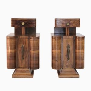 Italian Art Deco Night Stands, 1930s, Set of 2