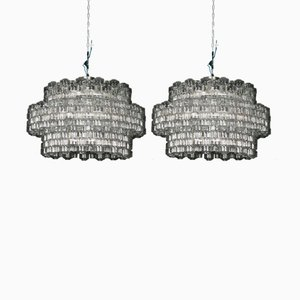 Chandeliers from Orrefors, 1970s, Set of 2