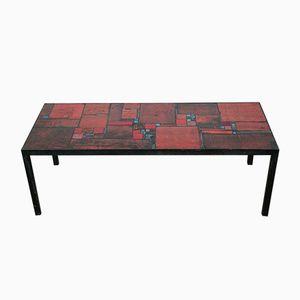 Roter Keramik Vintage Tisch von Pia Manu