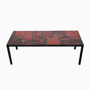 Vintage Red Ceramic Table by Pia Manu