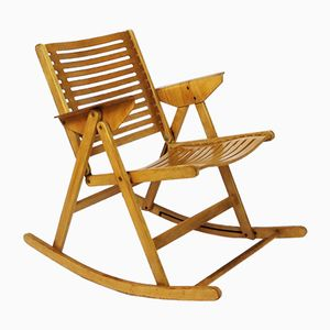 Vintage Rex Folding Rocking Chair by Niko Kralj