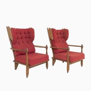French Lounge Chairs by Guillerme et Chambron for Votre Maison, 1950s, Set of 2