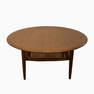 Round Coffee Table by Johannes Andersen for CFC Silkeboard, 1960s