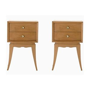 Sycamore Night Stands by Suzanne Guiguichon, 1950s, Set of 2