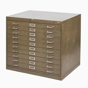 Vintage Metal Chest of Drawers for Document Storage from Kovona