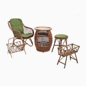 Salon de Jardin Vintage, Set par Audoux & Minet, 1950s