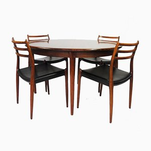 Model 78 Rosewood Dining Set by Niels Otto Møller for J. L. Møllers