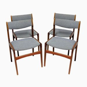 Vintage Solid Teak Chairs, Set of 4