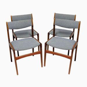 Vintage Stühle aus Massivem Teakholz, 4er Set