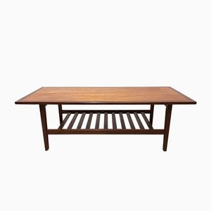 Teak and Afromosia Coffee Table, 1960s