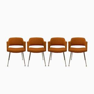 Vintage Konferenzsessel, 4er Set