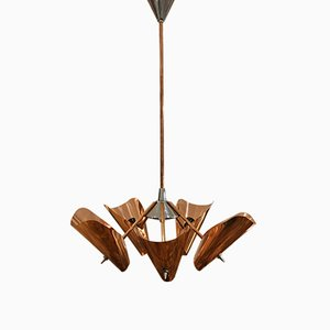 Mid-Century Copper Chandelier from Drupol, 1960s