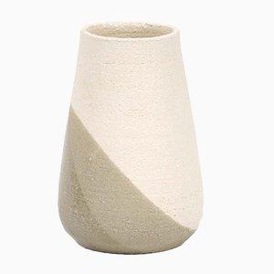 Mittlere Shake Vase in Graugrün und Weiß von Anbo Design für Anja Borgersrud