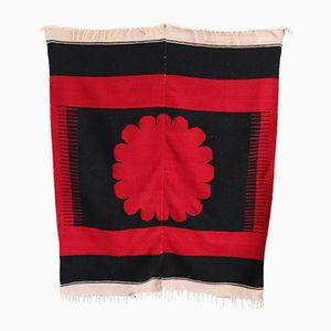 Vintage Kelim in Schwarz & Rot