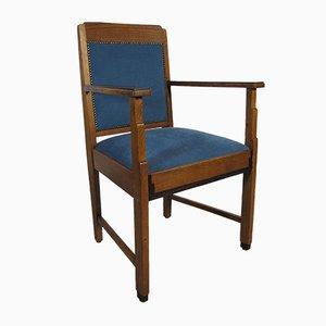 Art Deco Stuhl aus Eiche und Ebenholz, 1920er