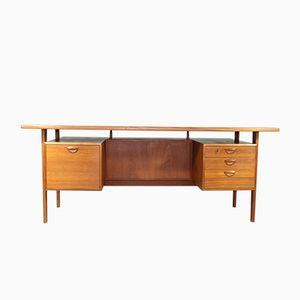 Model FM Teak Desk by Kai Kristiansen for Feldballes Møbelfabrik