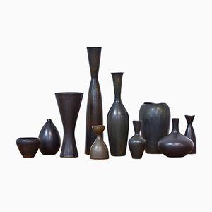 Stoneware Vases by Stålhane & Nylund for Rörstrand, Set of 10