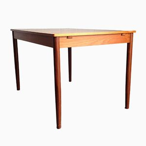 Extendable Vintage Teak Dining Table, 1960s