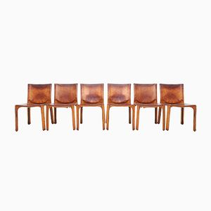 CAB Dining Chairs by Mario Bellini for Cassina, 1970s, Set of 6