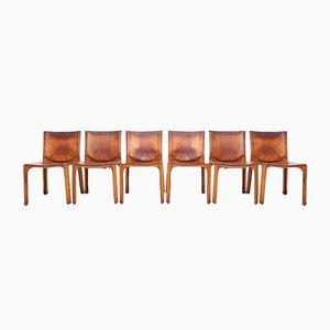 CAB Esszimmerstühle von Mario Bellini für Cassina, 1970er, 6er Set