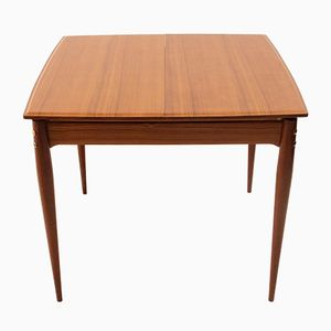 Square Extendable Italian Dining Table, 1950s