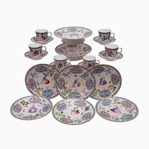 Antikes Porzellan Chinoiserie Dessert Service