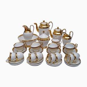 Antique Parisienne Empire Porcelain Coffee Tea Service, Set of 39