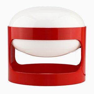 Rote Vintage KD27 Plastik Space Age Tischlampe von Joe Colombo für Kartell