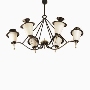 Mid-Century French Lantern Chandelier from Maison Arlus, 1958