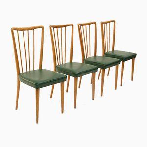 Italienische Vintage Esszimmerstühle, 1950er, 4er Set