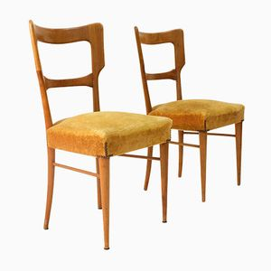 Italian Mid-Century Dining Chairs, 1950s, Set of 2