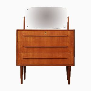 Mid-Century Danish Teak Dressing Table with 3 Drawers