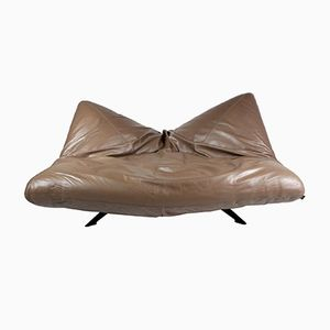 Ribalta Leather Sofa by F. Ballardini & F. Forbicini for Arflex, 1990s