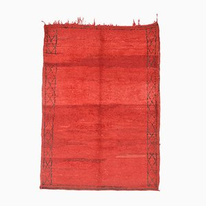 Red Moroccan Beni Ourain Rug, 1970s