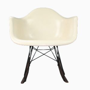 RAR White Rocking Chair by Charles & Ray Eames for Herman Miller, 1960s