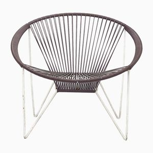 Mid-Century Dark Brown Spaghetti Cocktail Chair, 1960s