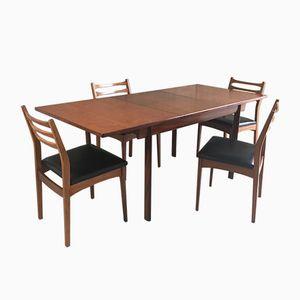 Esstisch mit Stühlen, 1970er