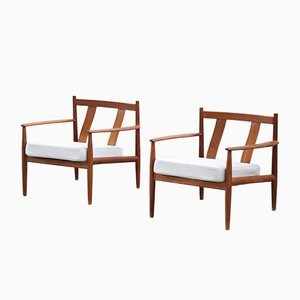Vintage Danish Teak Armchairs by Grete Jalk for France and Søn, Set of 2