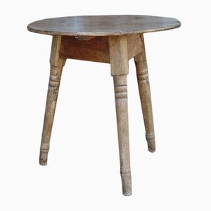 Antique English Sycamore Cricket Table