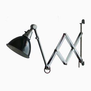 Vintage Midgard DDRP Scherenlampe in Stahloptik von Curt Fischer für Industriewerke Auma