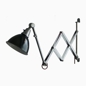 Vintage Midgard DDRP Scissor Light in Optical Steel by Curt Fischer for Industriewerke Auma