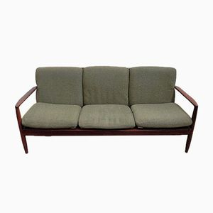 Vintage Three-Seater Teak Sofa by Grete Jalk for Poul Jeppesen