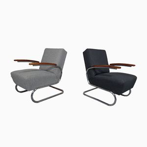 Model S411 Chairs from Thonet, 1930s, Set of 2