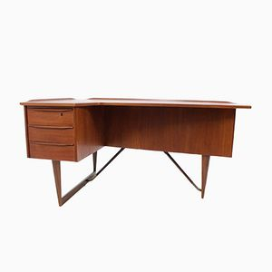 Mid-Century Danish Teak Desk by Peter Lovig Nielsen, 1960s