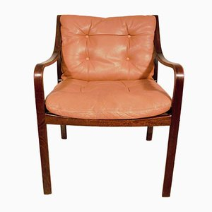 Cognac Leather Model 108 Chair by Fredrik Kayser for Vatne Mobler, 1976