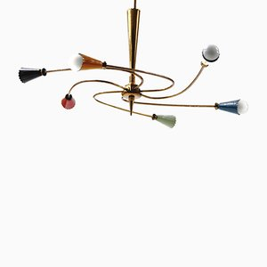 Italian Sputnik Ceiling Lamp from Stilnovo, 1950s