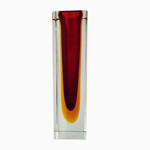 Triple Sommerso Murano Glas Vase von Alessandro Mandruzzato, 1980
