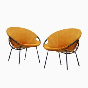 Vintage Lounge Chairs by Hans Olsen for Lea, Set of 2